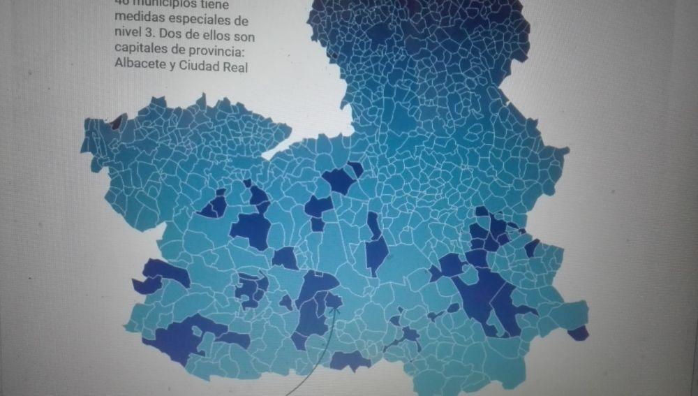 16 municipios de Ciudad Real se encuentran en nivel 3