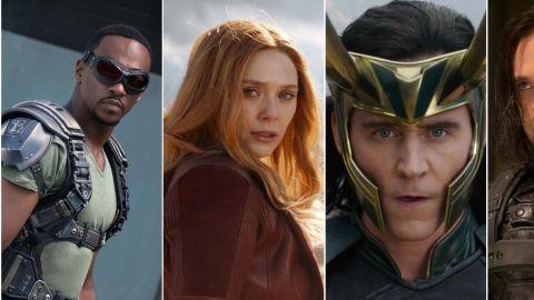 Montaje fotográfico con varias de las series de Marvel que llegarán a Disney+ durante el año 2021