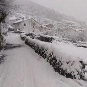 Nieve en el suroccidente asturiano