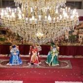 Recepción a los Reyes Magos en el Salón de Cristal