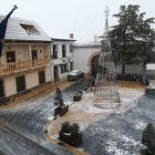 Miguel Esteban se cubre de nieve y deja estampas espectaculares