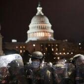 La Guardia Nacional en las proximidades del Capitolio