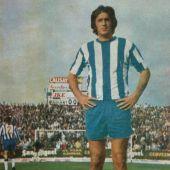 Viberti en su época de jugador del C.D. Málaga