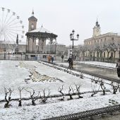 La nieve también se ha dejado ver en Alcalá de Henares (Madrid)