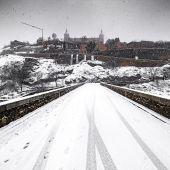 Una bonita estampa de la ciudad de Toledo cubierta por la nieve
