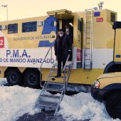 Puesto avanzado del 112 Asturias en Felechosa