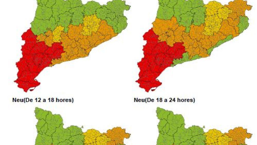 Previsión de nevadas en Cataluña