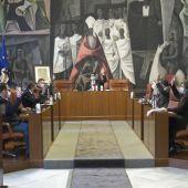 Pleno de la Diputación en el que se aprobaron los presupuestos por unanimidad