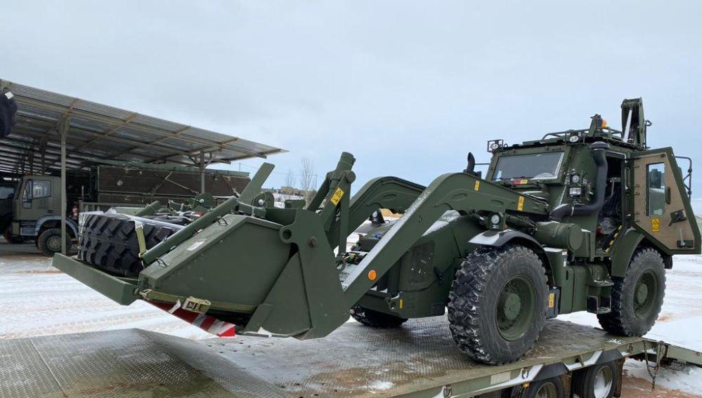 Convoy de maquinaria pesada del Ejército de Tierra