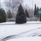 Así ha amanecido esta mañana la zona del campus universitario de Ciudad Real