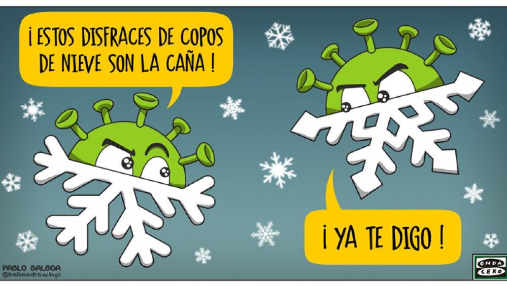 El temporal de nieve no ayuda a enfriar los datos del coronavirus.