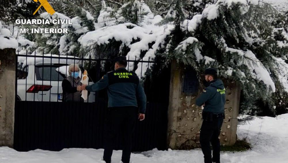 Uno de los servicios humanitarios que realizó la Guardia Civil en la provincia de Ciudad Real