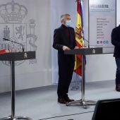 El ministro del Interior, Fernando Grande-Marlaska; la ministra de Defensa, Margarita Robles; y el ministro de Transportes, José Luis Ábalos.