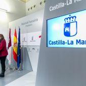 Rosa Ana Rodríguez durante la rueda de prensa