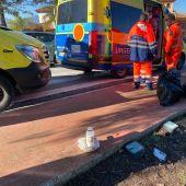Los servicios de emergencia en el lugar de los hechos en Cártama