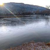 Cauces de ríos y pantanos congelados en Ciudad Real por la ola de frío