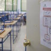 Aula de un colegio durante la pandemia
