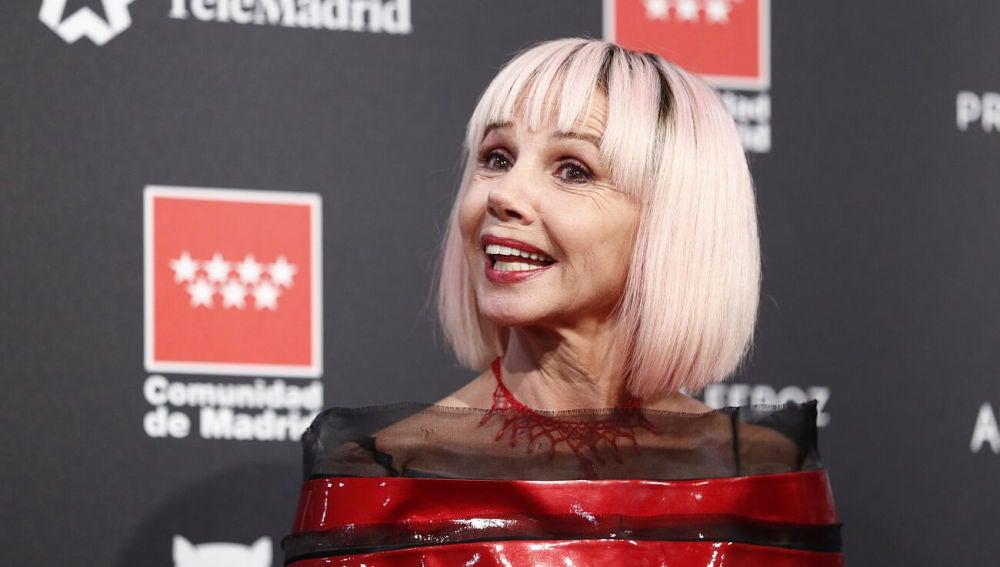 La actriz Victoria Abril, en el photocall de los Premios Feroz 2020, celebrados en Alcobendas