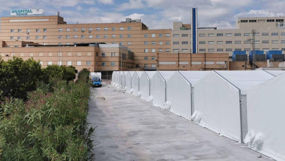 Sanidad acondiciona 80 camas en el hospital de campaña de Castellón