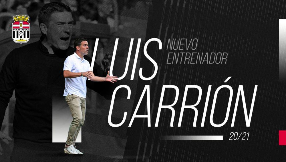 Luis Carrión dirigirá al FC Cartagena hasta final de temporada