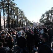 Protesta de hosteleros ante las restricciones sanitarias en Mallorca