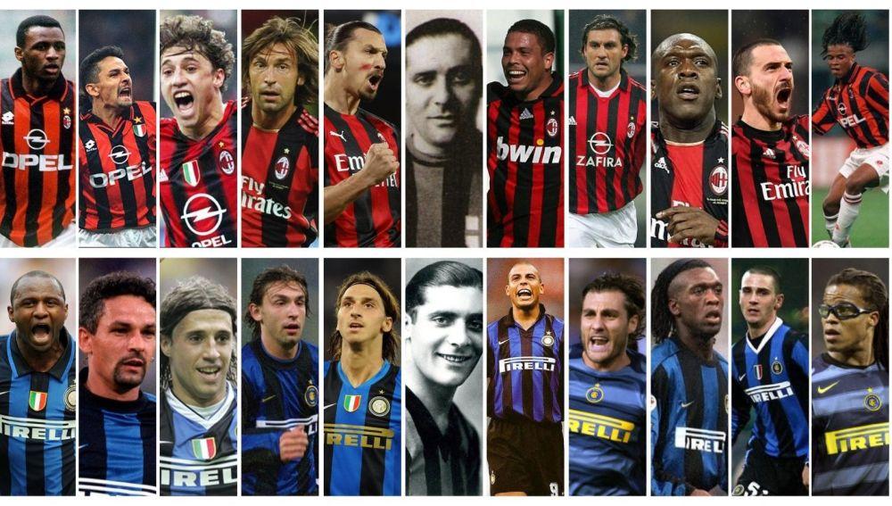 Once futbolistas top que jugaron en Milan e Inter