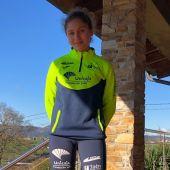 Alba Rodríguez, atleta ovetense campeona de España sub-16 de 300mv en 2020.