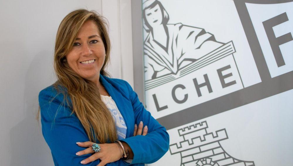Patricia Rodríguez durante su etapa como directora general del Elche.