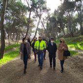 El alcalde y varios concejales han visitado hoy el entorno del cerro de San Jorge