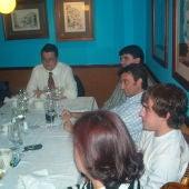 Adrián Campos y Fernando Alonso en la cena de las Jornadas del Deportes organizadas por Onda Cero