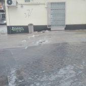 La rotura se ha producido en la calle Lanza