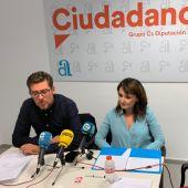 Javier Gutiérrez y Julia Parra, diputados de Ciudadanos
