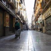 Calle vacía por el confinamiento