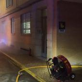 Actuación de los bomberos en el incendio de Las Casas