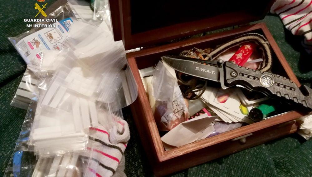 La Guardia Civil desmantela un punto de venta de droga en Palomares que vendía incluso a menores