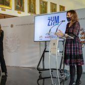 Natalia Chueca en la presentación de ZUM