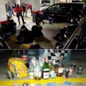 Denunciados 21 jóvenes que participaban en una fiesta en un garaje de Zizur