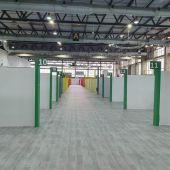 El hospital de campaña habilitado en IIFEBA estará listo esta semana.