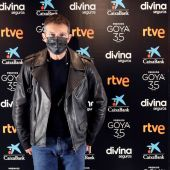 Antonio Banderas y María Casado, presentadores y directores de los Goya 2021, en la sede de la Academia de Cine