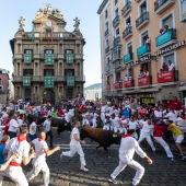 Imagen de archivo de un encierro de los Sanfermines en Pamplona