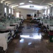 La capilla de un hospital de Granada se habilita como sala UCI ante la avalancha de pacientes