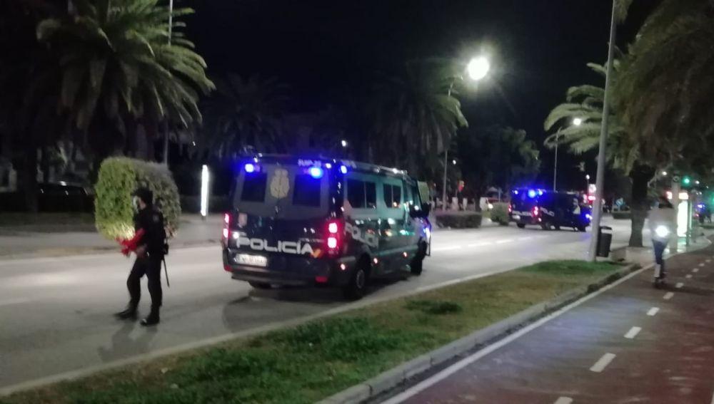 Control policial a la entrada de Málaga por cierre perimetral