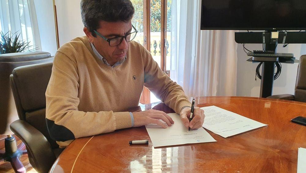 Carlos Mazón, presidente de la Diputación