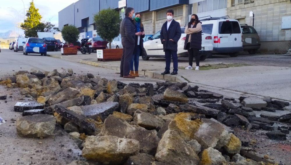 El Ayuntamiento de Huesca inicia varias obras de mejora en La Magantina y Martínez de Velasco