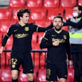 Jordi Alba en su gol