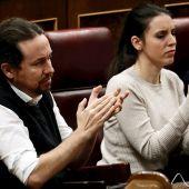 Pablo Iglesias e Irene Montero en una imagen de archivo en el Congreso