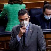 Pedro Sánchez, en la sesión de control al Gobierno