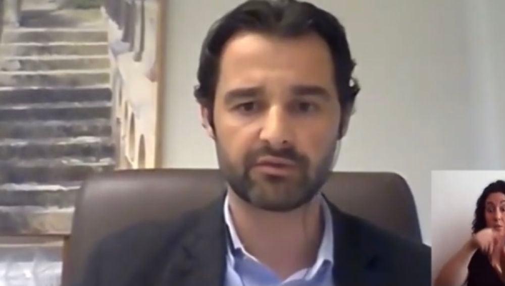 Eduardo Dolón, portavoz del PP, en el Pleno de hoy