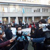 Protesta de apoyo a los activistas