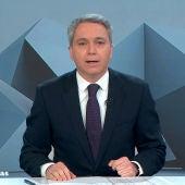 Vicente Vallés, durante el informativo